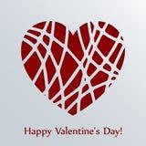 De kaart van de valentijnskaartendag met hart. Royalty-vrije Stock Afbeelding