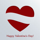 De kaart van de valentijnskaartendag met hart. Stock Foto