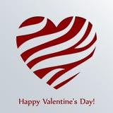 De kaart van de valentijnskaartendag met hart. Stock Afbeeldingen