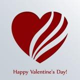 De kaart van de valentijnskaartendag met hart. stock illustratie