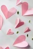 De kaart van de valentijnskaartengift Stock Foto