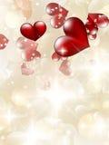 De Kaart van de Valentin` s Dag met Harten. EPS 10 Stock Foto