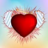 De kaart van de valentin`s dag van de liefde. EPS 8 royalty-vrije illustratie