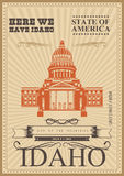 De kaart van de Verenigde Staten van Amerika boise Stock Afbeeldingen