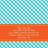 De kaart van de verjaardag met babywiegeliedje Stock Foto's