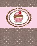 De kaart van de verjaardag met kers cupcake. Goed voor om het even welk Duitsland vector illustratie