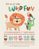 De kaart van de verjaardagsuitnodiging Stock Fotografie