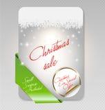 De Kaart van de Verkoop van Kerstmis Stock Afbeeldingen