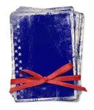 De kaart van de viering met patriottische symbolen van Amerika Stock Afbeeldingen