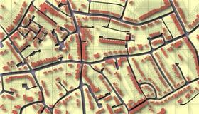 De kaart van de voorstad Stock Afbeeldingen