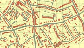 De kaart van de voorstad Stock Foto's