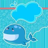 De kaart van de walvis Stock Afbeeldingen