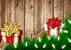 De Kaart van de Wens van Kerstmis Stock Foto's