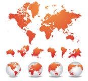 Wereldkaart Royalty-vrije Stock Fotografie
