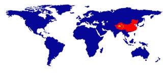 De kaart van de wereld Royalty-vrije Stock Fotografie