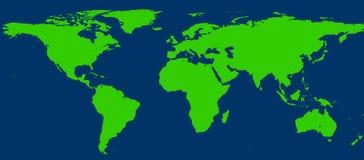 De kaart van de wereld 20MP Royalty-vrije Stock Foto