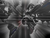 De kaart van de wereld. Stock Foto's