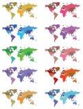 De kaart van de wereld Stock Foto