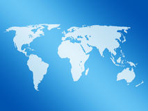 De kaart van de wereld Stock Fotografie