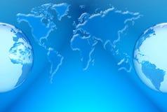 De kaart van de wereld Royalty-vrije Stock Foto's