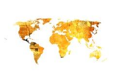 De kaart van de wereld Royalty-vrije Stock Afbeelding
