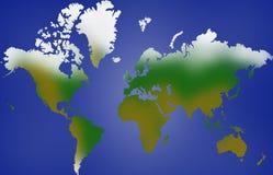 Wereldkaart royalty-vrije stock foto