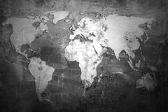 De kaart van de wereld Royalty-vrije Stock Afbeeldingen