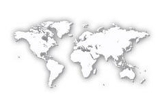 De Kaart van de wereld in 3D vector illustratie