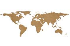 De Kaart van de wereld in 3D Royalty-vrije Stock Foto's