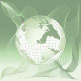 De kaart van de wereld, 3D bol Royalty-vrije Stock Fotografie