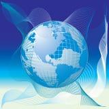 De kaart van de wereld, 3D bol Royalty-vrije Stock Afbeelding