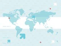 De kaart van de wereld Royalty-vrije Stock Foto