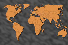 De kaart van de wereld royalty-vrije illustratie