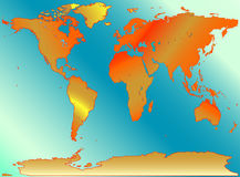 De kaart van de wereld Stock Afbeelding