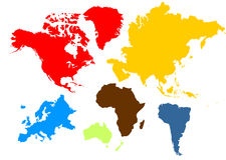 Wereldkaart Stock Afbeelding