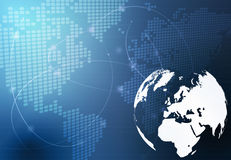 De kaart van de wereld - de kaart van Europa Stock Afbeeldingen