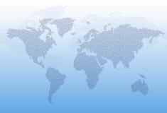 De kaart van de wereld die van tekst wordt gemaakt. Het concept van het nieuws. Royalty-vrije Stock Foto's