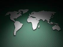 De Kaart van de wereld geeft op Groen terug Royalty-vrije Stock Afbeeldingen