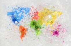 De kaart van de wereld het schilderen