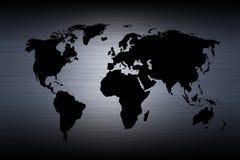 De kaart van de wereld - kaart van de wereld Royalty-vrije Stock Afbeelding