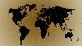 De kaart van de wereld - kaart van de wereld Royalty-vrije Stock Afbeeldingen