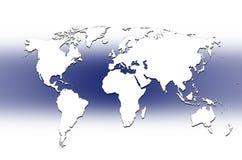 De kaart van de wereld - kaart van de wereld Stock Fotografie