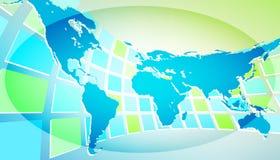 De kaart van de wereld met abstracte achtergrond Royalty-vrije Stock Afbeeldingen