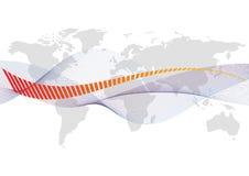 De kaart van de wereld met een witte achtergrond stock illustratie