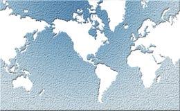 De kaart van de wereld met effect Royalty-vrije Stock Fotografie