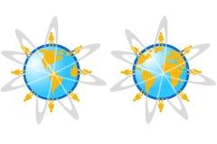 De Kaart van de Wereld van de bol royalty-vrije illustratie