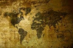 De Kaart van de Wereld van de kunst grunge stock foto