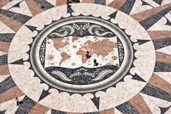 De Kaart van de Wereld van het mozaïek Stock Fotografie