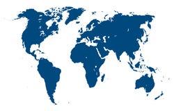 De kaart van de wereld. Vector illustratie Stock Afbeeldingen
