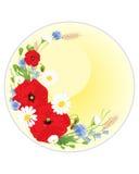 De kaart van de Wildflowergroet Stock Foto's